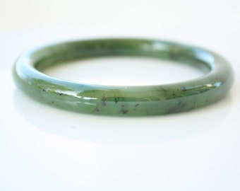 Genuine Jade Bangle - Green Nephrite - B Grade