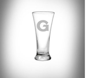 Georgetown University Etched Beer Glass * Personalized  Glasses -~ Great Graduation Gift!!!