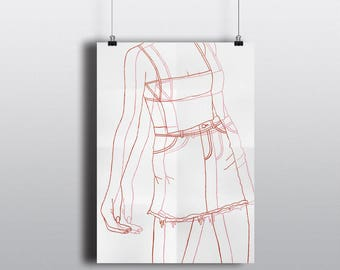 Consequences of Choice | Girl Problems | Printable Fashion Poster | Digital Art | Wall Decor | Gallery Wall | Wall art