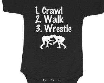 Wrestle Baby clothes, wrestle baby shirt, wrestle baby creeper, wrestle baby one piece, wrestle baby bodysuit, wrestle baby tees