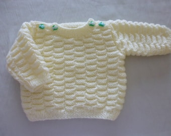 Hand knit sweater baby 6 months