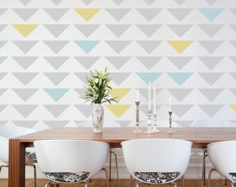 Geometric Triangle Wall Stencil