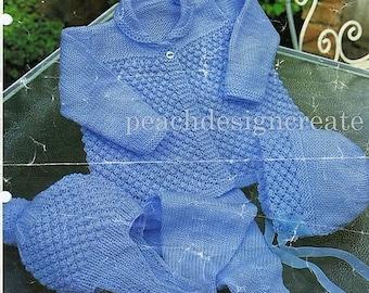 baby boys, pram set, sizes 18-20 in, knitting pattern, pdf, digital download