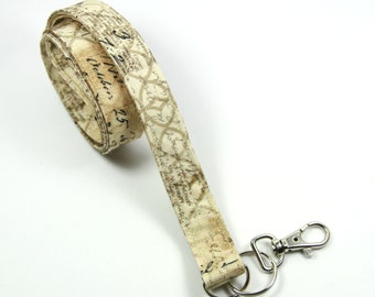 NEWSPAPER Fabric lanyard, Newspaper Badge Holder, Men's lanyard, Men's badge Holder
