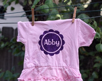 Girls Birthday Shirt, Any Number and Name