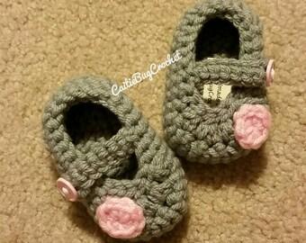 Crochet Mary Jane Booties / Slippers