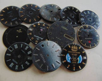 Vintage watch faces,set of 12 pieces.