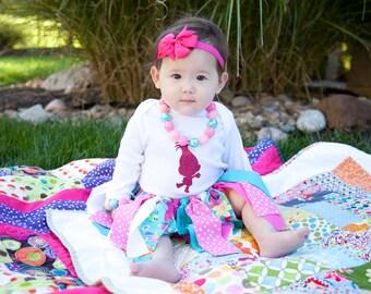 Trolls Poppy Outfit for Babies - Princess Trolls Poppy Birthday - Princess Poppy - Trolls Party - Trolls Birthday Party - Girl Birthday