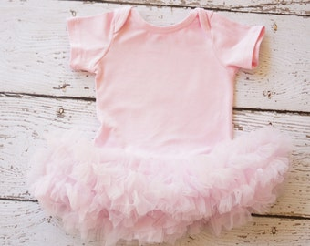Girls tutu - Baby Tutu dress- baby tutu 1st birthday - baby dress - first birthday tutu dress - pink tutu - pink pettiskirt - tutu bodysuit