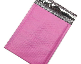 25 #0 Pink Poly Bubble Mailer Shipping Envelope Bags