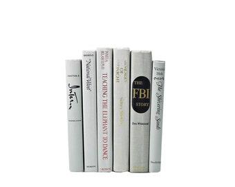 WHITE SMOKE Gray Decorative Books, Wedding Decor,  Centerpiece, Table Settings, Book Collection, Home  Library Office, Interior Design