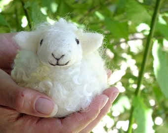 DIY  Fun and Easy Needle Felted Sheep Kit- Felting Project- Fiber Kit- Learn to Needle Felt- Animal Felting Kit- Sheep Felting Kit- Needle