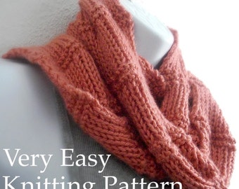 Knitting Pattern Scarf Pattern Beginner Tutorial Easy Knit Beginner Knitting with Photos You Can Sell What You Make PDF - Instant Download