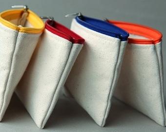 Coin Purse, Change Purse, Earphone case, Small zipper pouch, Card key bag