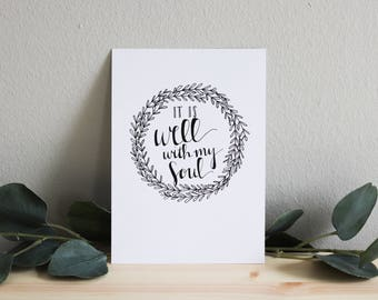 It Is Well | Calligraphy Print