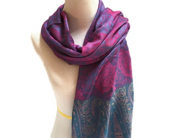 Pashmina Scarf Purple Scarf Pink Scarf Pashmina Shawl Gift For Her Pashmina Wrap Women Accessories Mothers Day Pashmina Scarves Gift Idea
