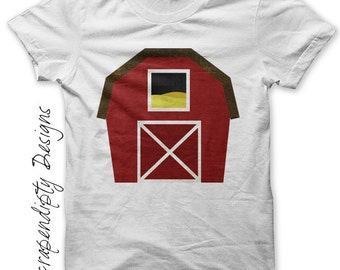 Barn Iron on Transfer - Iron on Farm Shirt / Kids Boys Clothing Tshirt / Farm Birthday Party / Barn Printable Digital / Baby Clothes IT256