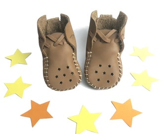 Basic Stars Leather Baby Shoes & Moccs