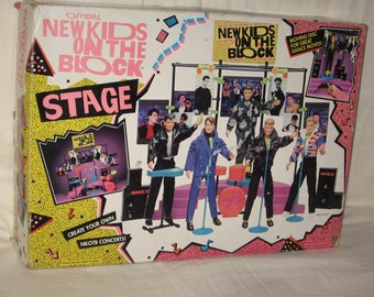 vintage 1990 big step productions official new kids on the block stage