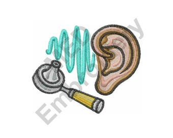 Ear Doctor - Machine Embroidery Design, Ear, Doctor