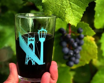 St Johns Bridge European Wine Glass