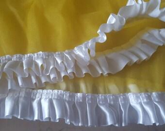 135 cm yellow tulle ruffle + 135 cm yellow tulle
