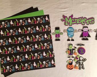 Monsters Scrapbooking Kit