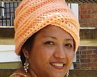 Crochet Patterns for Womens Hat,  Crochet Pattern Hat,  Turban Pattern,  Deitra Womens Turban Hat Pattern