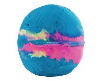 """Cotton Candy Bath Bomb, 5 oz., 2.25"""" Diameter that ships in Muslin Bag for reuse."""
