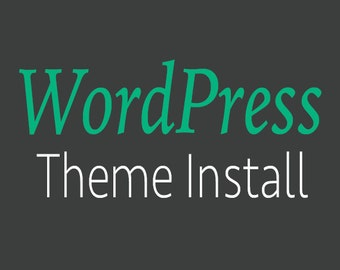 WordPress Theme Install