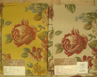 Highland Court Embroidered Huge Floral Designer Fabric Sample Pick ONE