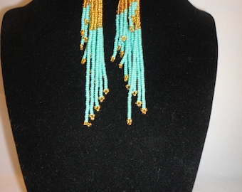 Chandelier Glass Hand Beaded Earrings