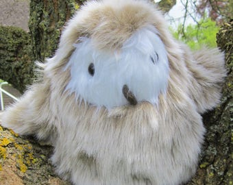 Ollie Owlet Toy Furry Owl Toy Ornamental Owl Baby Shower Gift Unbreakable Toy Room Decor Accent Unbreakable Item Cuddly Fluffy Toy Present