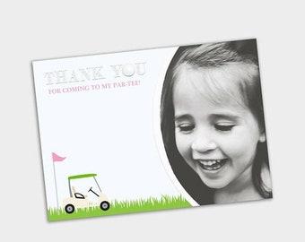 HALF OFF Golf Birthday Party Thank You, Golf Thank You Card, Golf Party, First Birthday, 1st - 2nd - 3rd - 4th Birthday, Boy's Golf Party, D