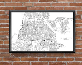 Memphis, Tennessee Map Art