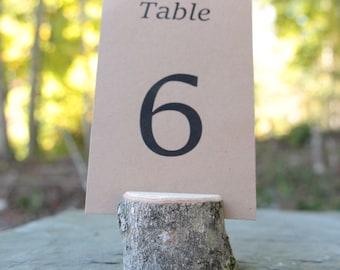 20 arbre moyen branche titulaires rustique Chic Table numéro porte pays mariage naturel en plein air respectueux de l'environnement