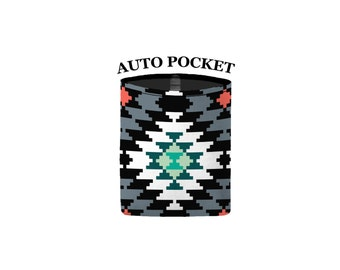 Auto Pocket - Aztec - Mint Green Grey - Car Accessory Automobile Caddy