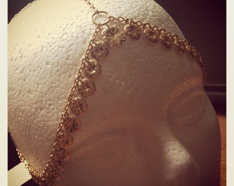 GOLD GODDESS HEADPIEACE  head chains, gold goddess hair jewelry, gypsy, Egyptian, indian, middle eastern. Hair chains. Head jewelry