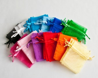 Organza Bags, Wedding Favor Bags, 4 sizes, 28 colors