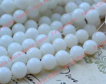 Semi transparent White Glass Beads 8mm Round Made in Austria Europe