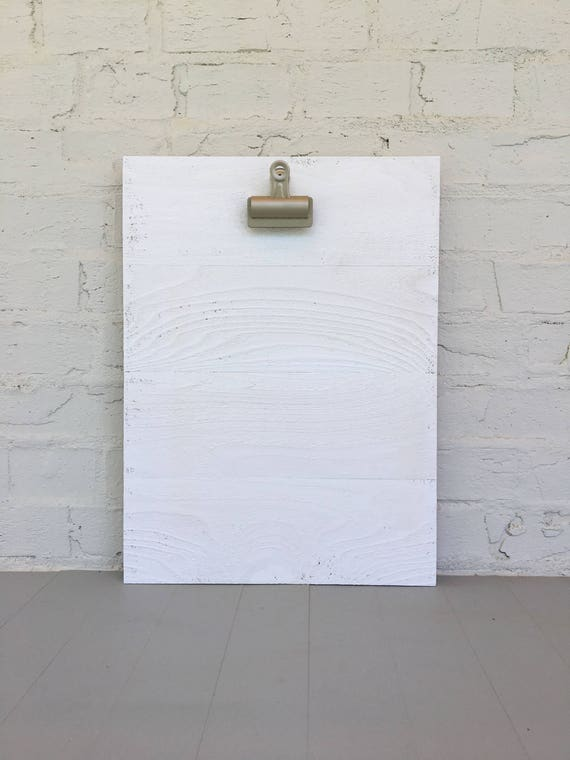 "16"" x 19.5"" Large Clipboard Art Photo Frame / Kids Art Holder in Distressed White"