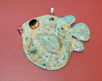 Ceramic Fish Wall Decor - Blowfish XV