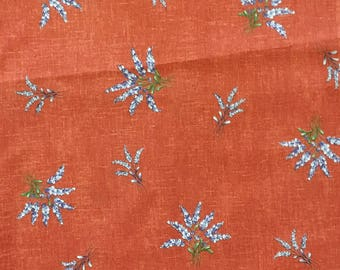Provencal decorator fabric from France, lavender flowers motif - 100% cotton fabric