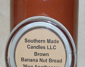26 oz. Apothecary Jar Banana Nut Bread Pure Soy Wax Candle