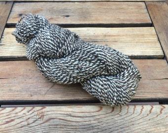 Natural colored barber pole Merino yarn