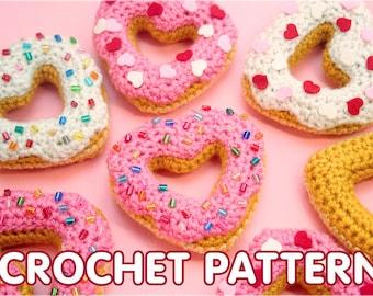 PDF Crochet Pattern - Heart Donut