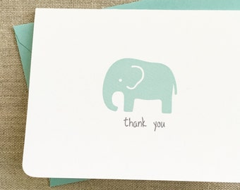 elephant baby shower thank you cards boy