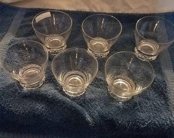Set of 6 Mid Century Low Ball / Rocks Glasses