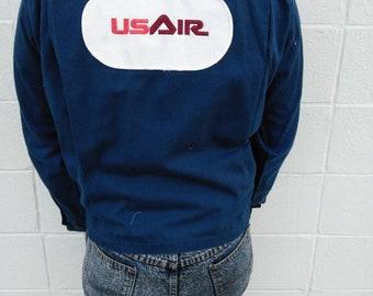 Vtg US Air work jacket mens small
