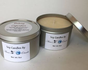 Baking Cupcakes 8oz Soy Wax Candle
